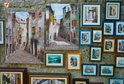 Rovinj paintings on a wall in Grisia street